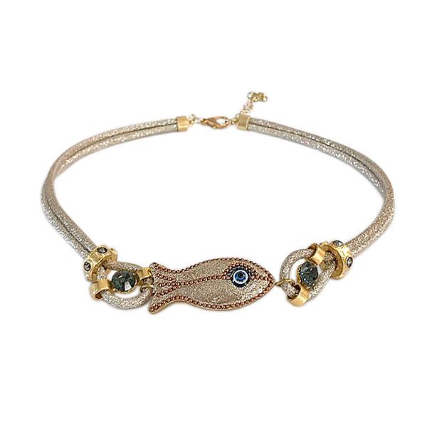 choker peixe gold - Colar Peixe Gold