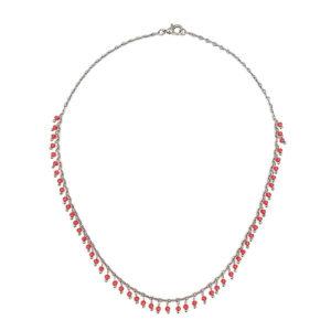 colar cristais vermelho 300x300 - Fio Mini Cristais