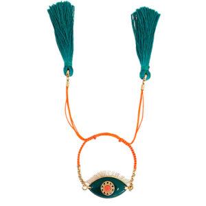 pulseira lashes verde e laranja 300x300 - Pulseira Lashes Esmeralda