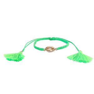 tornozeleira búzio dourado verde neon 300x300 - Tornozeleira Búzio Verde Neon