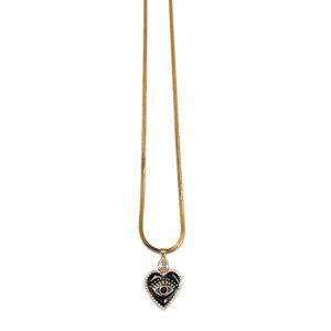 colar coração esmaltado 300x300 - Colar Longo Coração Esmaltado