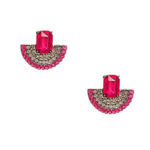 brinco pedra rosa pink 1 300x300 - Brinco Leque Pink