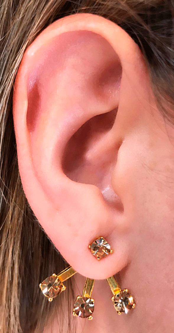 ear jacket dourado - Ear Jacket Gold