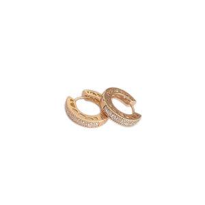 argola zirconia 300x300 - Argola Zircônia Ouro