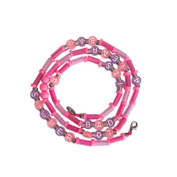 mask chain rosa e lilas - Mask Chain Summer