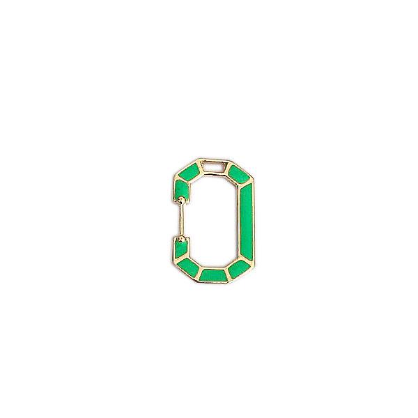 pingente verde neon - Mosquetão Fake