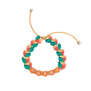 pulseira happy tie dye laranja 300x300 - Pulseira Coração Tie Dye Laranja